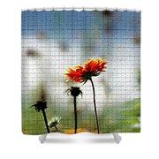 Mosaic Flower Shower Curtain