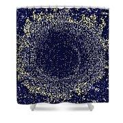 Mosaic Galaxy Midnight Blue Shower Curtain