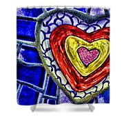 Mosaic Heart By Diana Sainz Shower Curtain