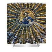 Mosaic Of Christ Pantocrator Shower Curtain by Ayhan Altun
