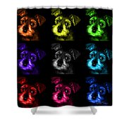 Mosaic Salt And Pepper Schnauzer Puppy Pop Art 7206 F -bb Shower Curtain