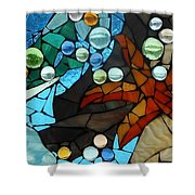 Mosaic Stained Glass - Low Tide Shower Curtain