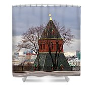 Moscow As Viewed From The Kremlin - Square Shower Curtain