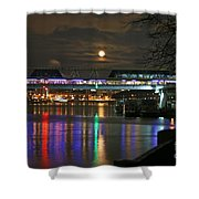 Moscow At Night In Winter Shower Curtain