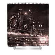 Moscow At Night Shower Curtain