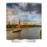 Moscow Kremlin At Sunset - 2 Shower Curtain