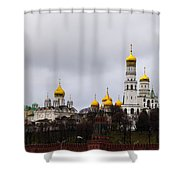 Moscow Kremlin Cathedrals - Featured 3 Shower Curtain