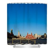 Moscow Red Square From South-east To North-west Shower Curtain