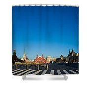 Moscow Red Square From South-east To North-west - Square Shower Curtain