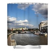 Moscow River - Russia Shower Curtain
