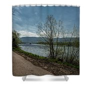 Moselle River Shower Curtain