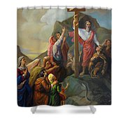 Moses And The Brazen Serpent - Biblical Stories Shower Curtain