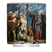 Moses And The Brazen Serpent Shower Curtain