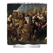 Moses And The Water From The Stone Shower Curtain