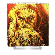 Moses At The Burning Bush Shower Curtain