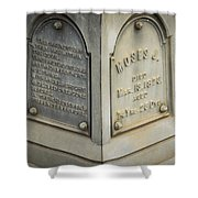 Moses J Shower Curtain