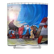 Moses Leading Through The Red Sea Shower Curtain
