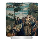 Moses Saved From The Waters Shower Curtain