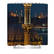 Mosques In Istanbul Shower Curtain by Ayhan Altun