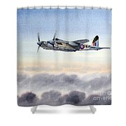 Mosquito Aircraft Shower Curtain