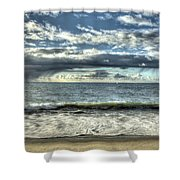 Moss Landing In The Clouds Shower Curtain