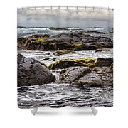 Moss Rocks Hawaii Shower Curtain