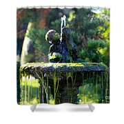 Mossy Fountain Shower Curtain