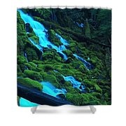 Mossy Rock City Shower Curtain