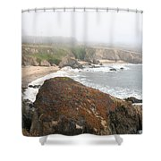 Mossy Rocks  Shower Curtain