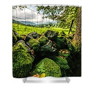 Mossy Wall Shower Curtain