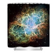 Most Detailed Image Of The Crab Nebula Shower Curtain by Adam Romanowicz