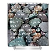 Most Powerful Prayer With Beachrocks Shower Curtain