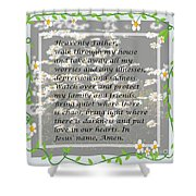 Most Powerful Prayer With Daisies Shower Curtain
