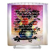 Most Powerful Prayer With Flowers In A Vase Shower Curtain