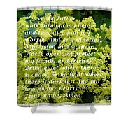 Most Powerful Prayer With Ladies Mantle Shower Curtain