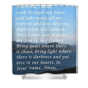 Most Powerful Prayer With Ocean View Shower Curtain