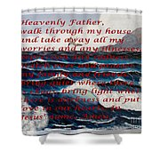 Most Powerful Prayer With Ocean Waves Shower Curtain