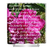 Most Powerful Prayer With Peony Bush Shower Curtain