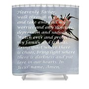 Most Powerful Prayer With Rosebud Shower Curtain