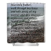 Most Powerful Prayer With Seascape Shower Curtain