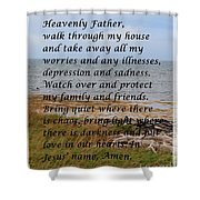 Most Powerful Prayer With Seashore Shower Curtain