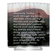 Most Powerful Prayer With Sunset And Moon Shower Curtain