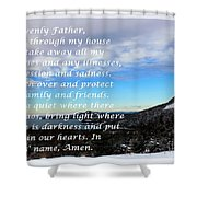 Most Powerful Prayer With Winter Scene Shower Curtain