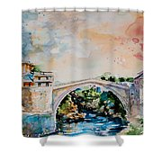 Mostar Bridge Shower Curtain