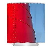 Mostly Red Shower Curtain