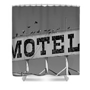 Motel For The Birds Shower Curtain