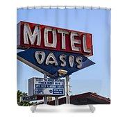 Motel Oasis Shower Curtain