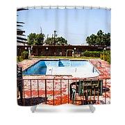 Motel Pool 3 Shower Curtain