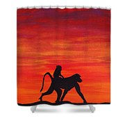 Mother Africa 4 Shower Curtain