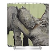 Mother And Baby 1 Shower Curtain